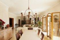 Luxury dining room indoors — Stock Photo