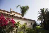 Spanish villa outside during daytime — Stock Photo