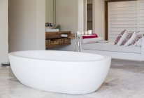 Bathtub in modern bathroom indoors — Stock Photo
