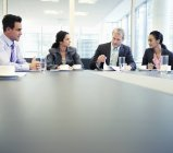 Business people meeting in conference room at modern office — Stock Photo