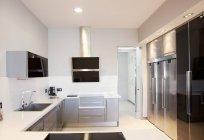 Luxury modern kitchen indoors — Stock Photo