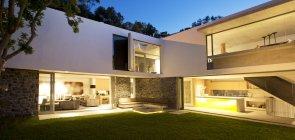 Backyard of modern house — Stock Photo