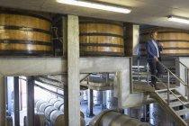 Винороб з червоним вином на платформі в льосі Винзавод — стокове фото