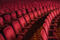 Empty seats in theater auditorium — Stock Photo