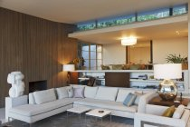 Modern living room indoors — Stock Photo
