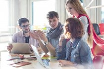 Creative business people meeting in conference room — Stock Photo
