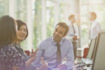 Business people talking in office meeting — Stock Photo
