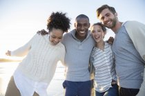 Portrait of four friends having fun — Stock Photo