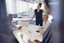 Business people talking and planing in office meeting — Stock Photo