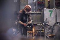 Сталеплавильный сталеплавильный завод — стоковое фото