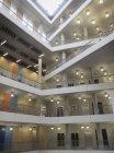 Modern office atrium interior with balconies — Stock Photo