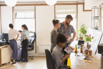 Creative designers brainstorming, planning in office — Stock Photo