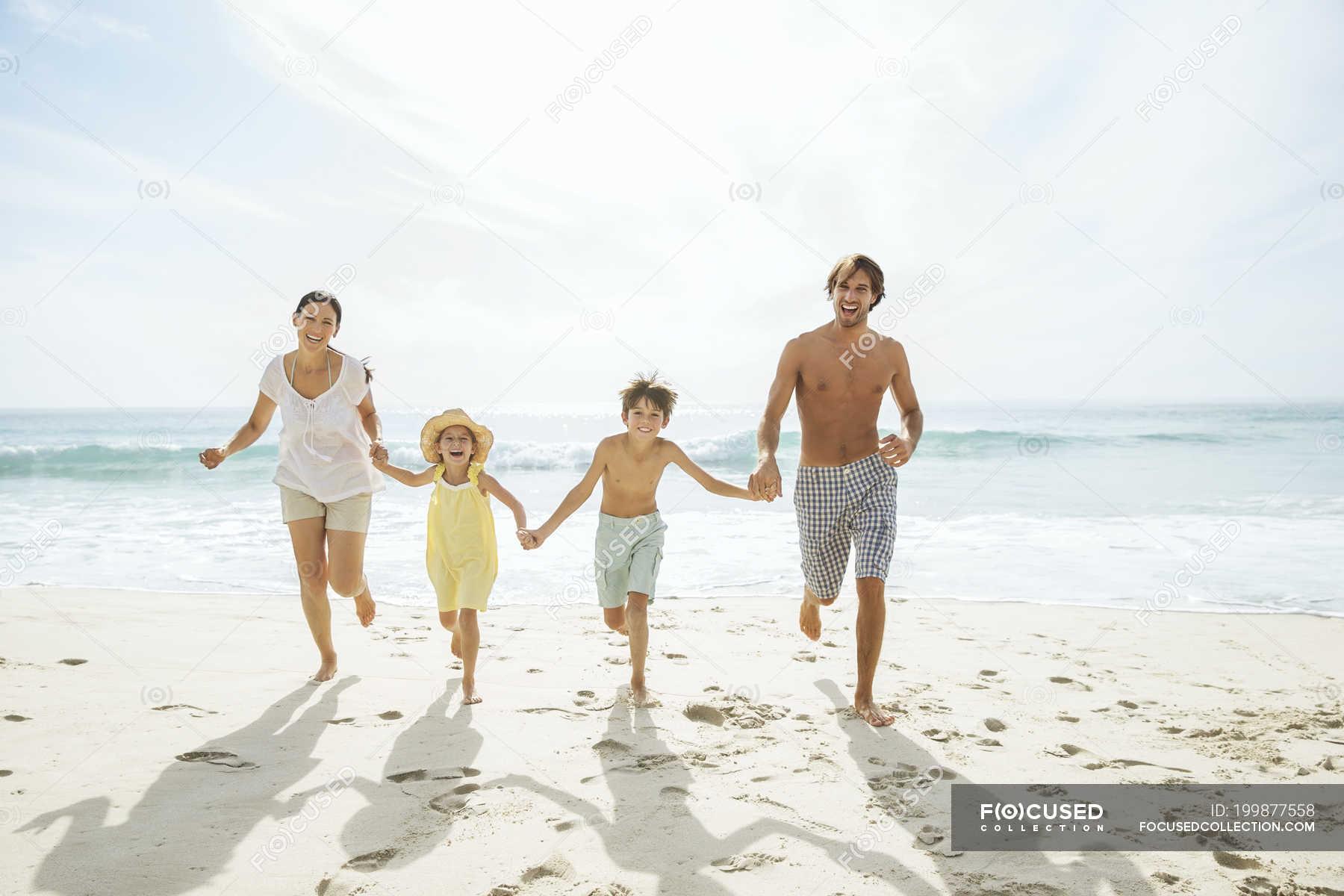 Strand familien nackt Familie Nackt
