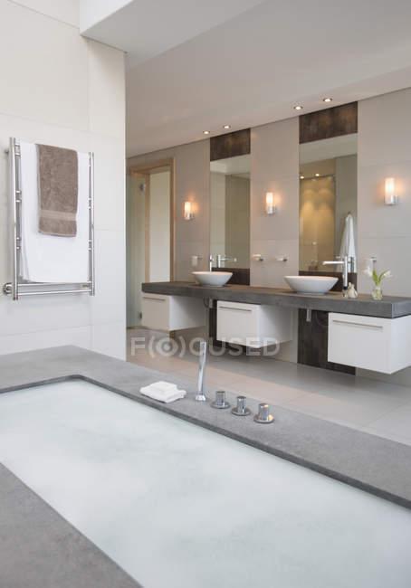 View of Modern bathroom indoors — Stock Photo