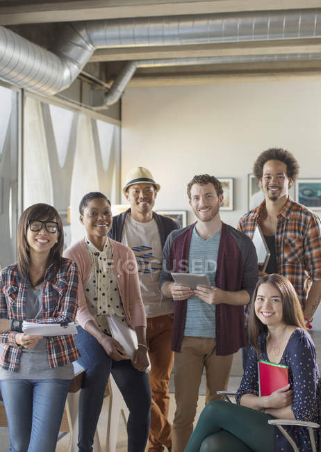 Portrait of confident casual business people — Stock Photo