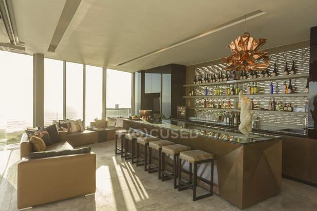 Modern Luxury Home Showcase Bar Stock Photo
