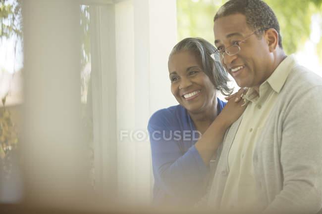 Happy senior couple outdoors — Stock Photo