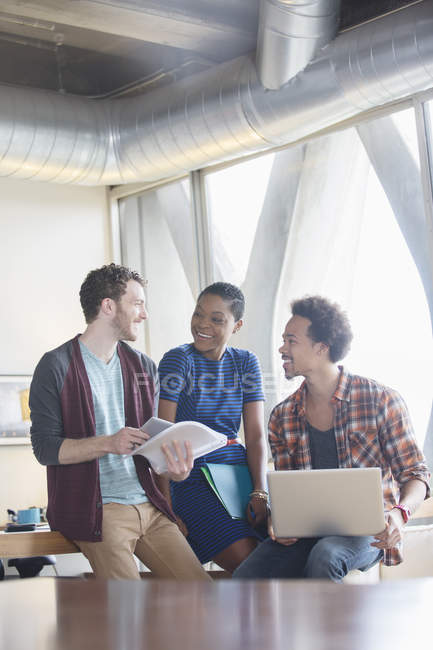 Creative business people talking in meeting — Stock Photo