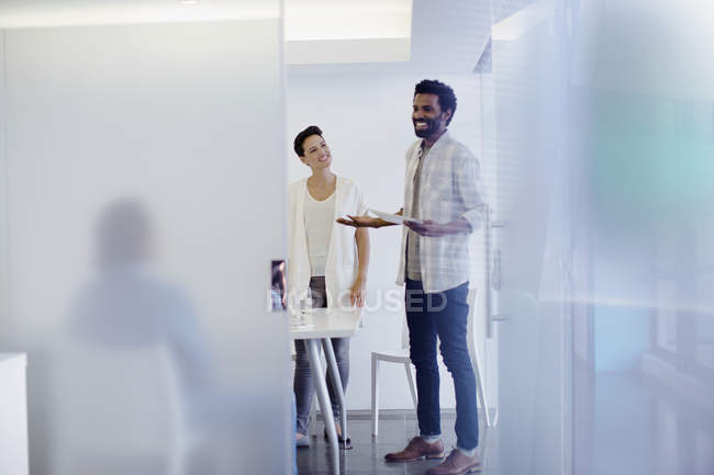 Creative business people talking in conference room meeting — Stock Photo
