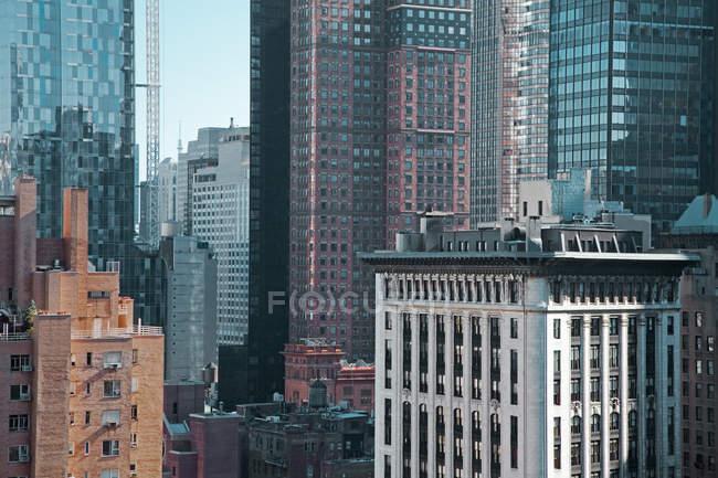 Highrise buildings, Nueva York, Nueva York, Estados Unidos - foto de stock