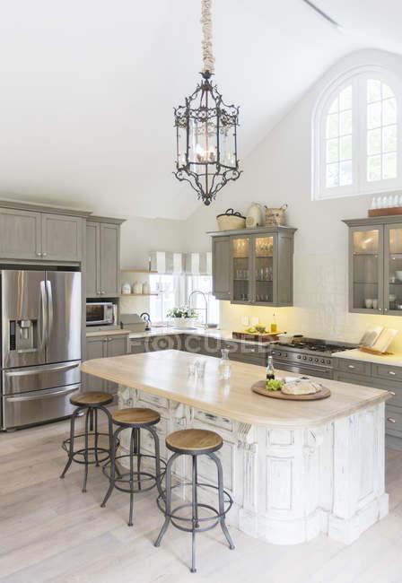Luxury kitchen  indoors during daytime — Stock Photo