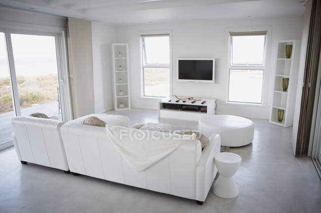 Modern living room during daytime — Stock Photo
