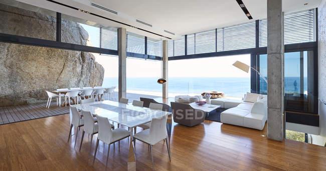 Open type room at luxury modern house — Stock Photo