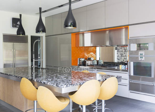 Modern kitchen  indoors during daytime — Stock Photo