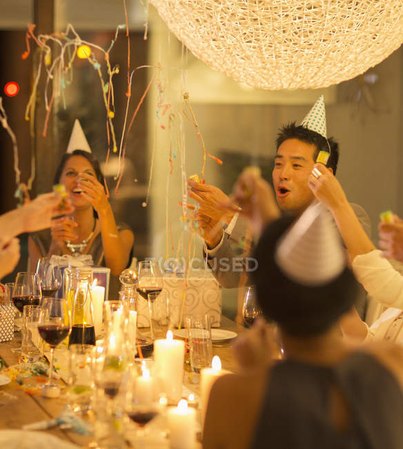Friends celebrating at party — Stock Photo