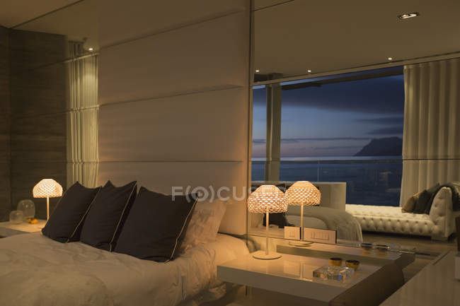 Illuminated Modern Home Showcase Bedroom Home Interior