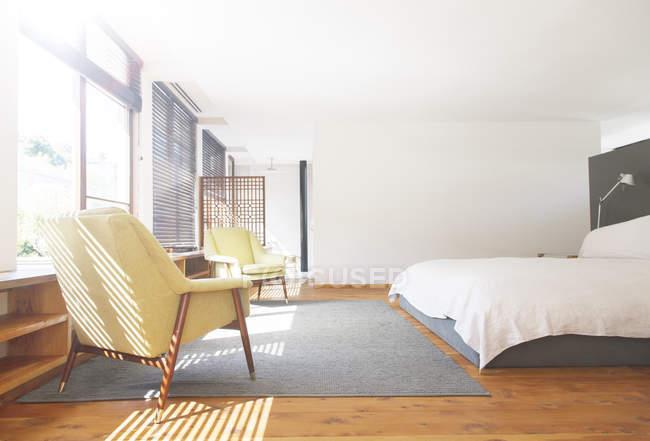 Кресла, ковер и диван в современном — стоковое фото