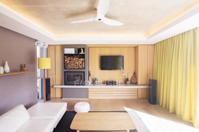 Home showcase living room — Stock Photo