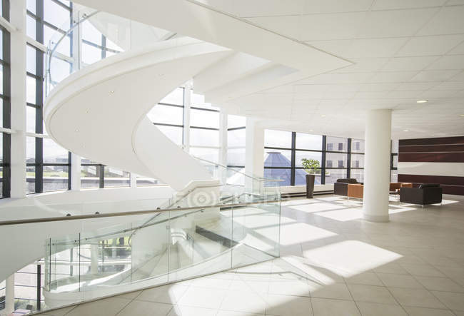 Spiral staircase in modern building — Stock Photo