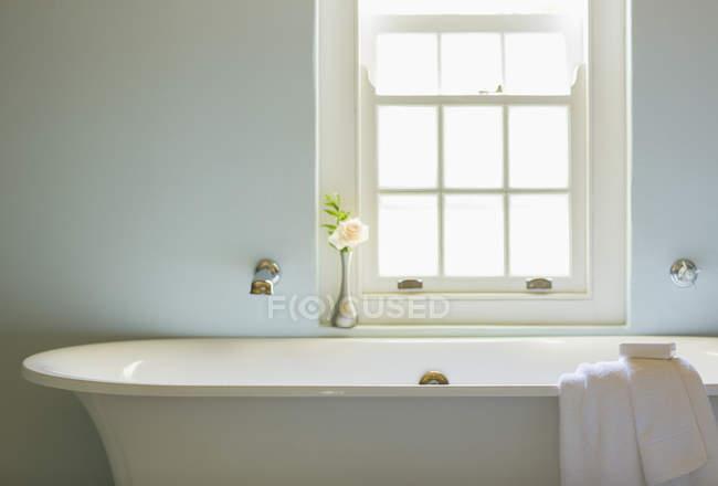 Vasca Da Bagno Sotto Finestra : Vasca da bagno sotto la finestra in bagno di lusso u foto stock