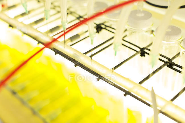 Close up of machinery in science laboratory — Stock Photo