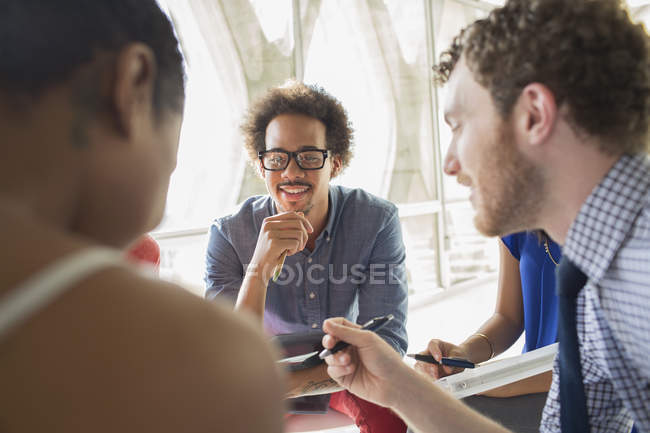 Creative business people in meeting at modern office — Stock Photo