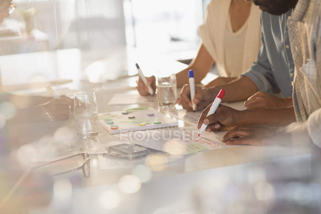Creative business people brainstorming, planning — Stock Photo