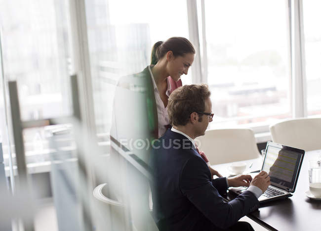 Business people working at modern office — Stock Photo