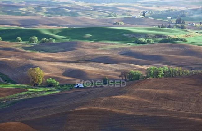 Вид с воздуха на панораму — стоковое фото