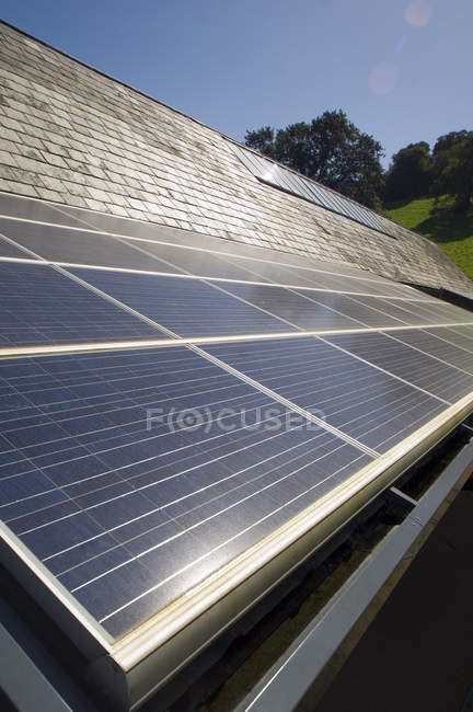 Close up of solar panels outdoors — Stock Photo