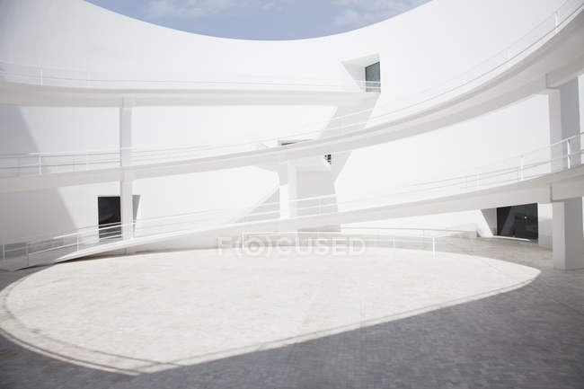 Interior of modern courtyard at office building — Stock Photo