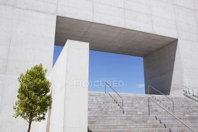 Modern architecture, urban stairs at building courtyard — Stock Photo