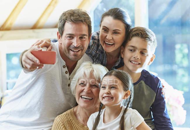 Multi-generation family taking selfie — Stock Photo