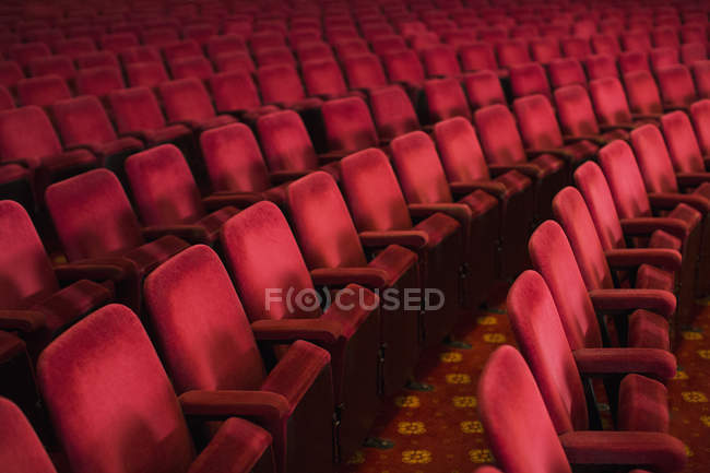 Empty seats in theater auditorium — Stock Photo