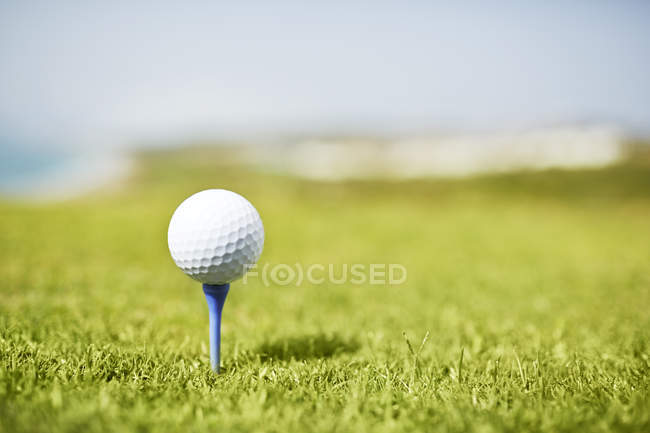 Bola de golfe no tee — Fotografia de Stock