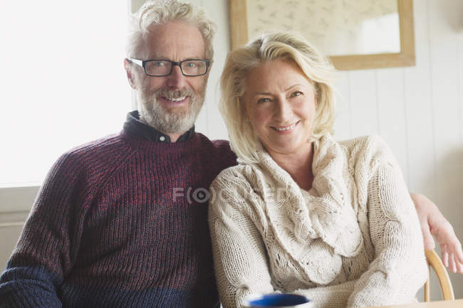 Portrait smiling senior couple — Stock Photo