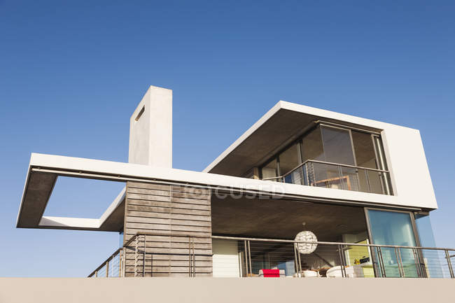 Balcony of modern house — Stock Photo