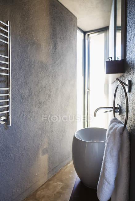 Sink in modern bathroom indoors — Stock Photo