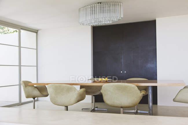 Modern dining room  indoors during daytime — Stock Photo