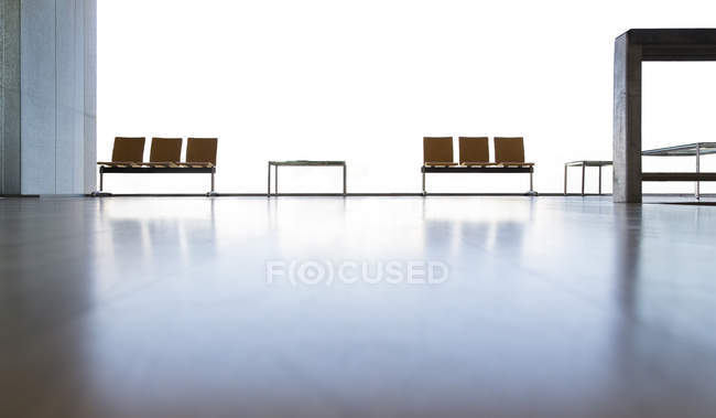 Chairs in empty lobby — Stock Photo